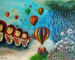 Hot Air Paintings - Looking Into The Unknown by Mindy Huntress