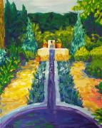 Rill Paintings - Looking Out My Back Door by Leigh Ann Inskeep-Simpson