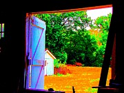 Photography Of Black Cats Photos - Looking Out The Barn Door by Annie Zeno
