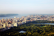 Central Park West Photos - Looking Over Central Park To The Upper West Side by Thomas Northcut