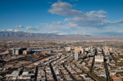 Las Vegas Landscape Framed Prints - Looking over Downtown Framed Print by Andy Smy