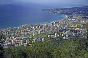 Lebanon Framed Prints - Looking over Jounieh Bay from Harissa Framed Print by Sami Sarkis