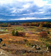 Gettysburg Prints - Looking Over The Gettysburg Battlefield Print by Christian David Photography AKA Christian Wilson