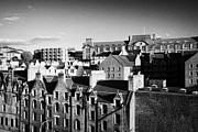 Sky Line Art - Looking Over The Old Town Of Edinburgh Scotland Uk United Kingdom by Joe Fox
