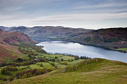 Fell Framed Prints - Looking Over Ullswater From Hallin Fell Framed Print by Julian Elliott Ethereal Light