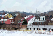 Lawrenceville Prints - Looking Toward Plum Way Print by Jay Ressler
