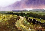 Moorland Posters - Looking Towards Pole Moor Poster by Paul Dene Marlor