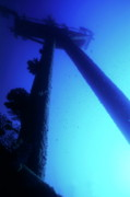 Water Vessels Art - Looking up at the mast of the Dalton Shipwreck by Sami Sarkis