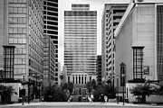 Nashville Tennessee Prints - Looking Up Deaderick Street Towards War Memorial Plaza And The William Snodgrass Tennessee Tower Print by Joe Fox