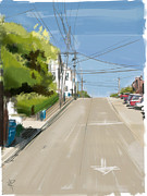 Dolores Metal Prints - Looking Up Dolores Street Metal Print by Russell Pierce