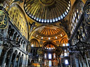 Seraphim Angel Photo Metal Prints - Looking Up - Hagia Sophia Metal Print by Sarah E Ethridge