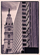 Philadelphia Photo Prints - Looking Up In Philadelphia 7 Print by Jack Paolini