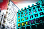 Tall Buildings Prints - Looking Up Print by Julie Lueders