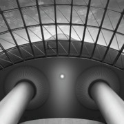 Pillars Prints - Looking Up Print by Mike McGlothlen
