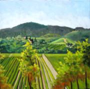 Winery Paintings - Looking West by Char Wood