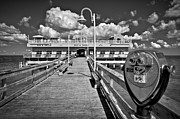 Oceanview Posters - Lookout at Oceanview Fishing Pier Poster by Williams-Cairns Photography LLC