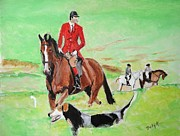 Horse And Rider Prints - Lookout Print by Judy Kay