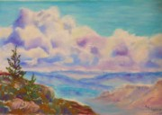Oregon Pastels Prints - Lookout North Print by Angela  Harris