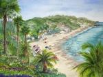 Lookout Over Laguna Beach Print by Bonnie Sue Schwartz