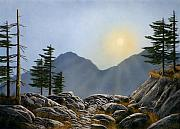 Lookout Painting Prints - Lookout Rock Print by Frank Wilson