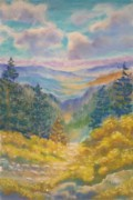 Oregon Pastels Prints - Lookout South Print by Angela  Harris