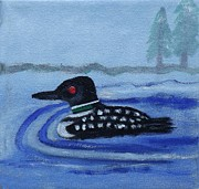 Margaret Harmon - Loon on Lake Winnipeaukee