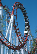 Loop Section Of A Rollercoaster Ride Print by Kaj R. Svensson