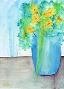 Loose Watercolor Prints - Loose Arrangement Two Print by Ken Powers
