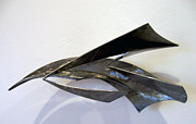 Steel Sculpture Sculptures - Loosing The Bag Of Aeolis by John Neumann