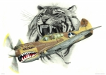 P-40 Mixed Media Metal Prints - Lopes Hope Metal Print by Trenton Hill
