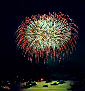 4th July Photo Originals - Lopez Island Fireworks 10 by David Salter