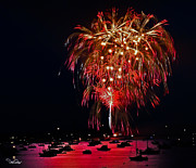 4th Of July Posters - Lopez Island Fireworks 6 Poster by David Salter