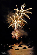 4th Of July Framed Prints - Lopez Island Fireworks 7 Framed Print by David Salter