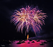 4th July Photo Originals - Lopez Island Fireworks 8 by David Salter