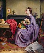 Child Praying Paintings - Lord - Thy Will Be Done by Philip Hermogenes Calderon