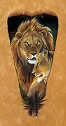 Lioness Mixed Media Posters - Lord and Lady Poster by Sandra SanTara