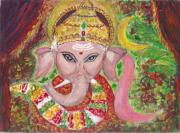 Spiritual  - Lord Baby Ganesha by Mary Sedici