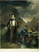 Cravat Photo Posters - Lord Byron Poster by Granger