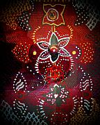 Symbolic Mixed Media Prints - Lord Ganesha Mirage Print by Vijay Sharon Govender