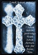 Christian Mixed Media Posters - Lord Have Mercy With Lyrics Poster by Angelina Vick