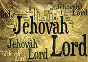 Word Cloud Prints - Lord Jehovah 2 Print by Angelina Vick