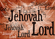 Word Cloud Prints - Lord Jehovah Print by Angelina Vick