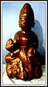 Stones. Sculpture Prints - Lord Lakshmi Print by Anand Swaroop Manchiraju
