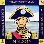 Nelson Posters - Lord Nelson Poster by Paul Helm