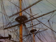 Lord Nelson Paintings - Lord Nelsons Ship Rigging by Joan Ryan