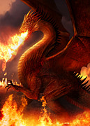 Lord Of The Dragons Print by Philip Straub