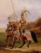 Heroic Metal Prints - Lord of the Tournament Metal Print by Edward Henry Corbould