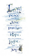 Catholic Fine Art Posters - Lord Peace Poster by Judy Dodds