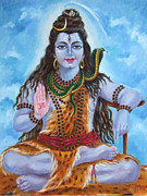 Lord Drawings Metal Prints - Lord Shiva Metal Print by Kalpana Talpade Ranadive