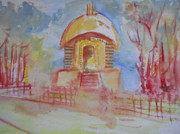 Valuable Paintings - Lord Shiva Temple by Shubhankar Adhikari
